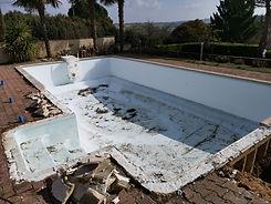 Suppression de l'existant, construction d'un nouveau bassin.
