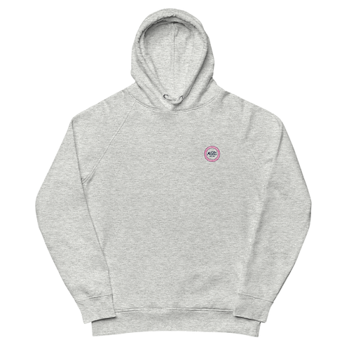 Organic Grey Hood Classic - Pink Patch