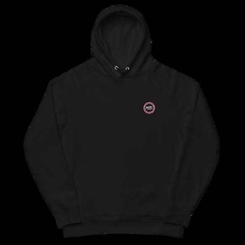 Organic Black Hood Classic - Pink Patch