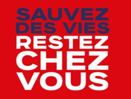 FRANCE: RESTEZ CHEZ VOUS !!!!