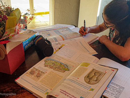 France : confinement et l'école à la maison
