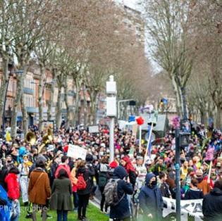 Toulouse: Manifestation en musique