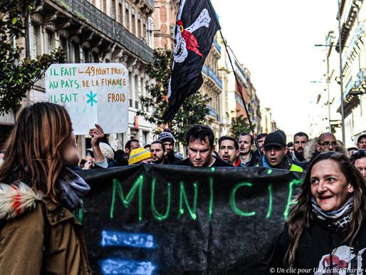Toulouse: manifestation et tempo des forces de l'ordre
