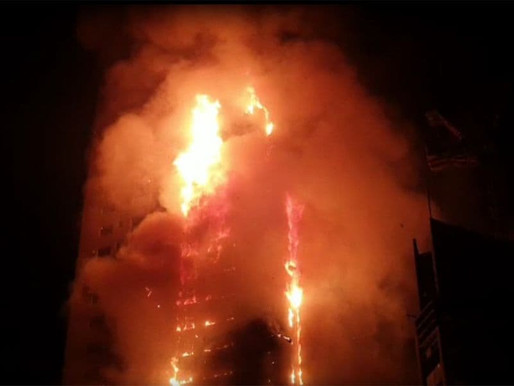 Sharjah: un important incendie dans un immeuble de 56 étages