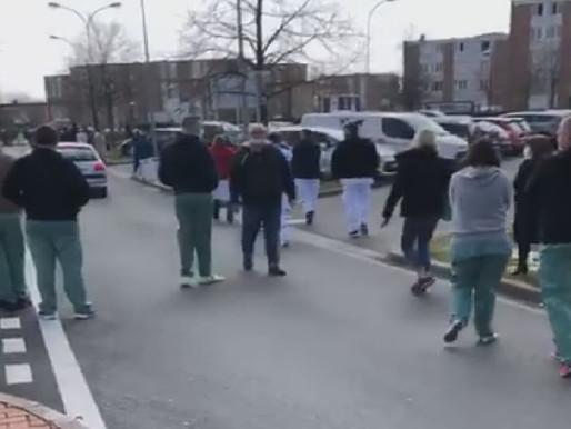 Tourcoing : manifestation des soignants en cours