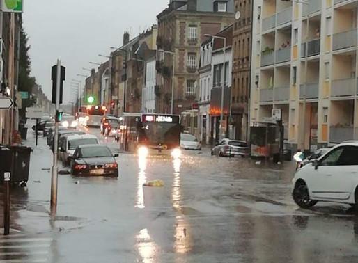Le Havre: tempête et inondation