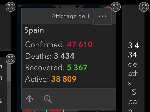 Espagne: le pays est devenu le deuxième en nombre de morts