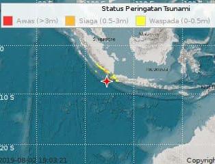 Indonésie: alerte au tsunami après séisme de 7,4 magnitude