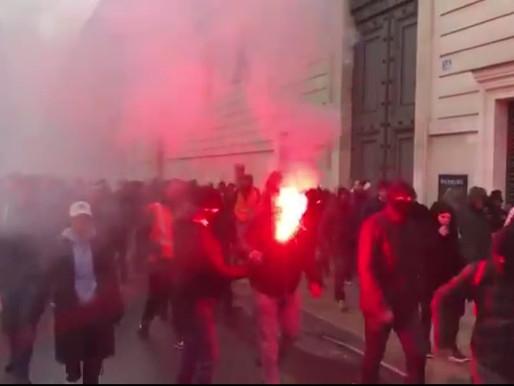 Paris: Action surprise des cheminots, charge policière et deux blessés.