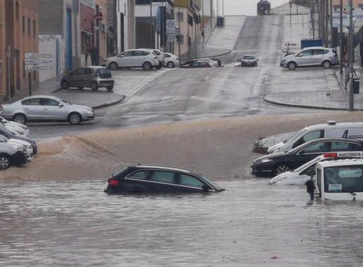 Estepa: Terrible inondation en Espagne