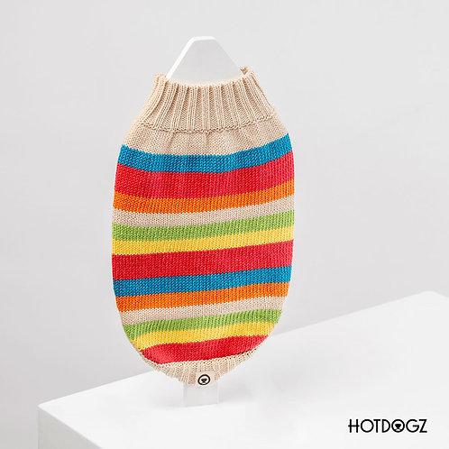 Sweater Party Stripes Beige - Hot Dogz