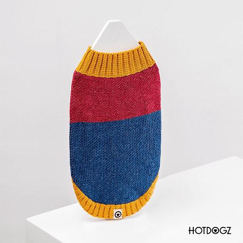 Sweater Color Block - Hot Dogz