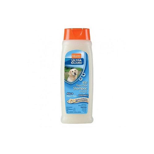 Hartz Shampoo Hug Rid Flea Dog - Oatmeal 532 ml