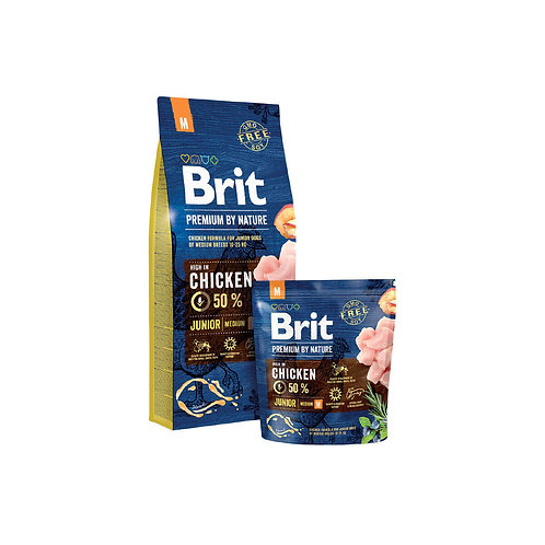 Brit Premium By Nature Junior Medium - 3kg y 15 kg