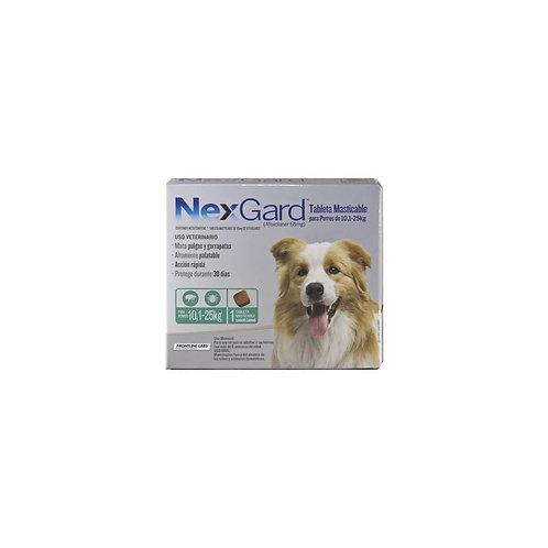 Antipulgas Nexgard 10.1 a 25 kg - Comprimidos