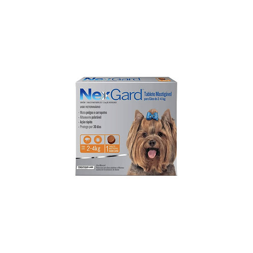 Antipulgas Nexgard 2 a 4 kg - Comprimidos