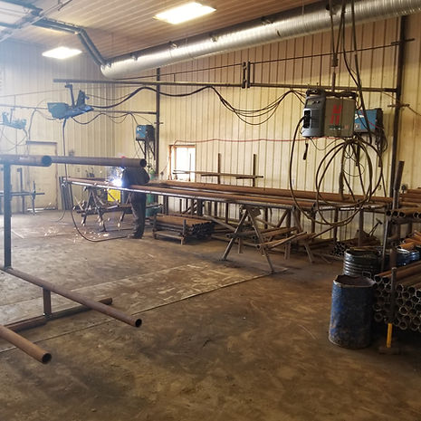 BJ Fencing ltd. Welding Facility.