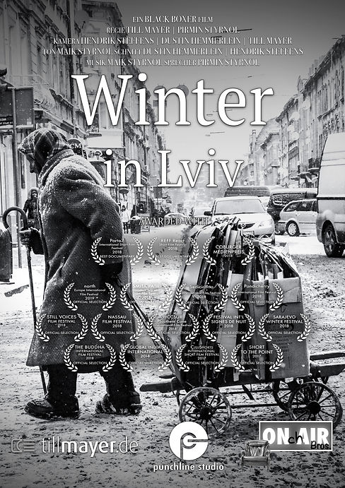 Plakat - Winter in Lviv 02 Awarded With.