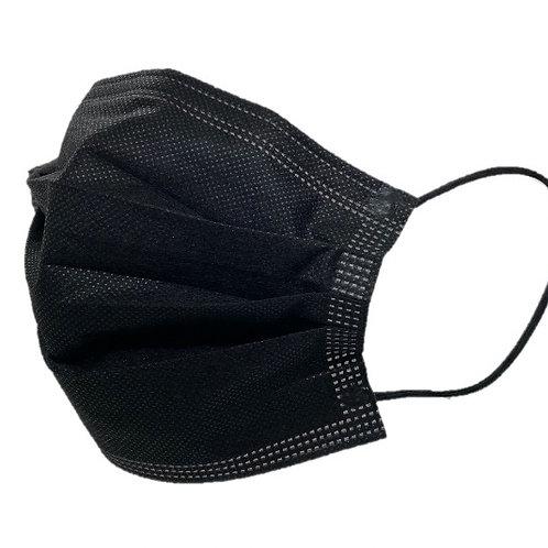 Hygiene-Maske / Einweg, Schwarz Typ I