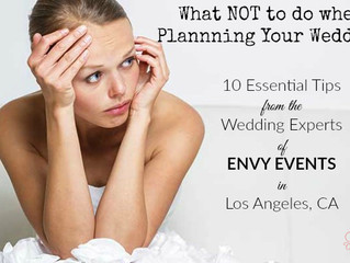 What NOT to do when Planning Your Wedding