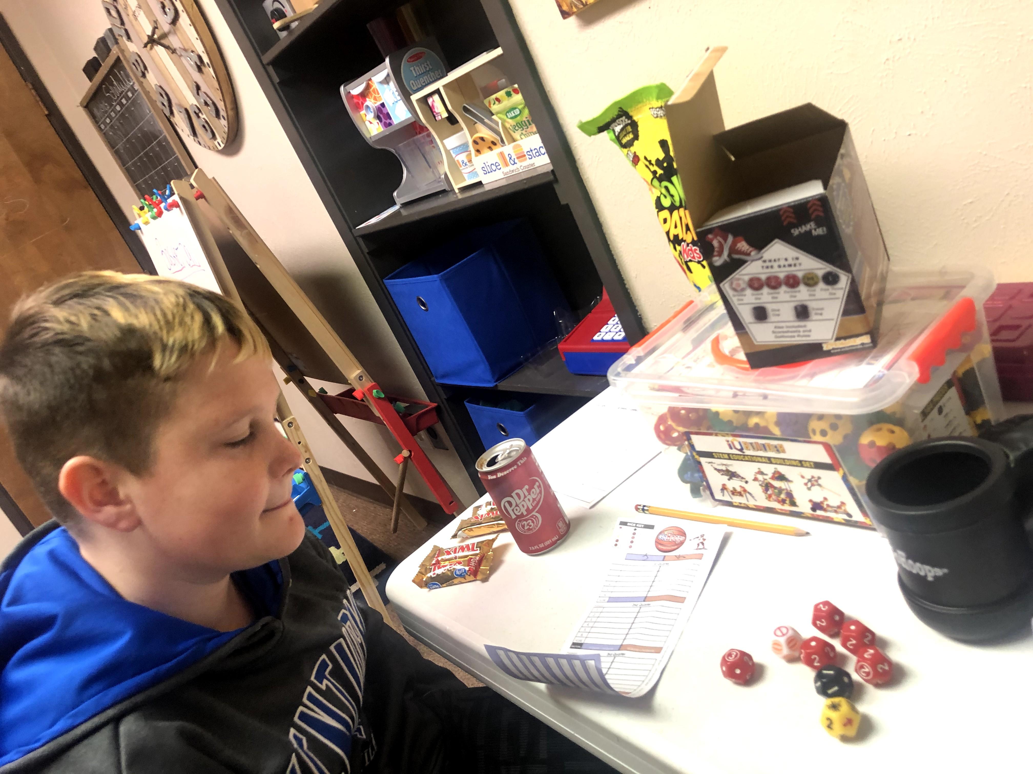 Jett getting Ready for math