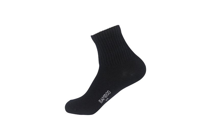 ถุงเท้าข้อสั้นสีดำล้วน แบบ Basic