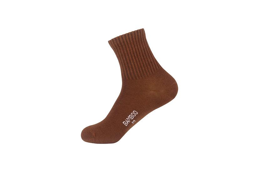 ถุงเท้าข้อสั้นน้ำตาลล้วน แบบ Basic