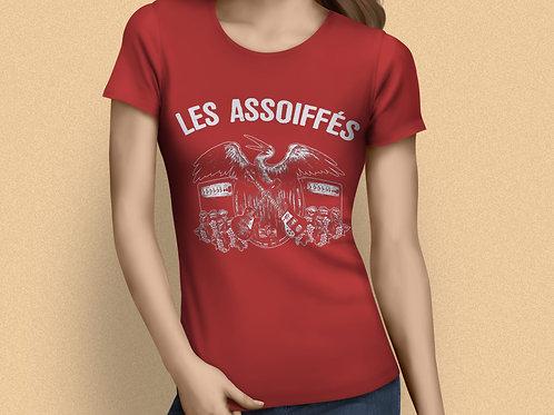 T-SHIRT ROUGE FEMME - Logo Les Assoiffés