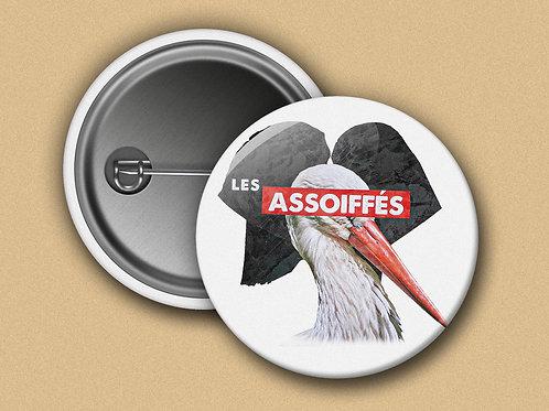 BADGE Les Assoiffés -Cigogne