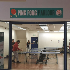 Ping pong games at the Kennet Centre