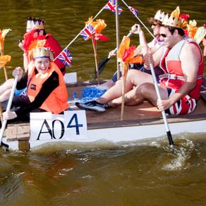 Raft fun this Bank Holiday Monday