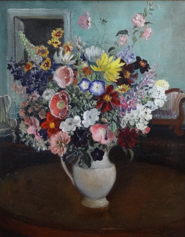 Govaerts Jean (1898-1985) – Huile SurToile – Bouquet de fleurs – école belge - 63x76cms HS