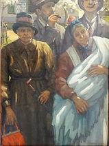 Heymans Casemir 1893-1984 Huile sur panneau Zeeldraaier école belge ...cmx ...cm .JPG