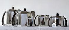 Service à café et thé – métal argenté – art déco – 4 pièces – orfèvre belge  Quintin .JPG