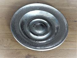 Plat- circa 1960 - métal argenté -orfèvre belge Jacques François diamètre 41cm.JPG