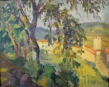 Stillemans Henri-Victor (1879-1959)– Huile sur toile – village – école belge – 40x50cm.JPG