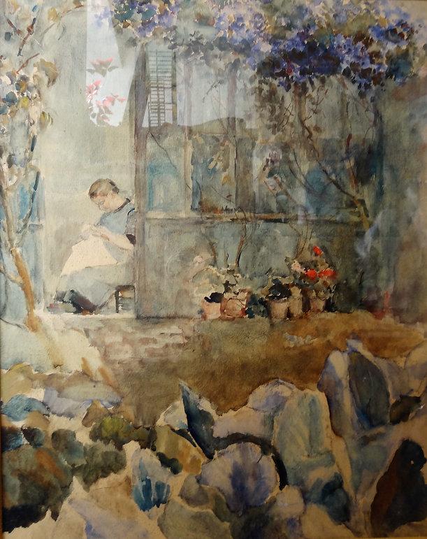 Leclercq Victor (1896-1945) – aquarelle – école belge – 35x45.JPG