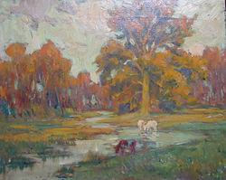Van Beurden Alphonse (1878-1962) – Huile sur toile – Vaches – école belge – 40x50cm.jpg