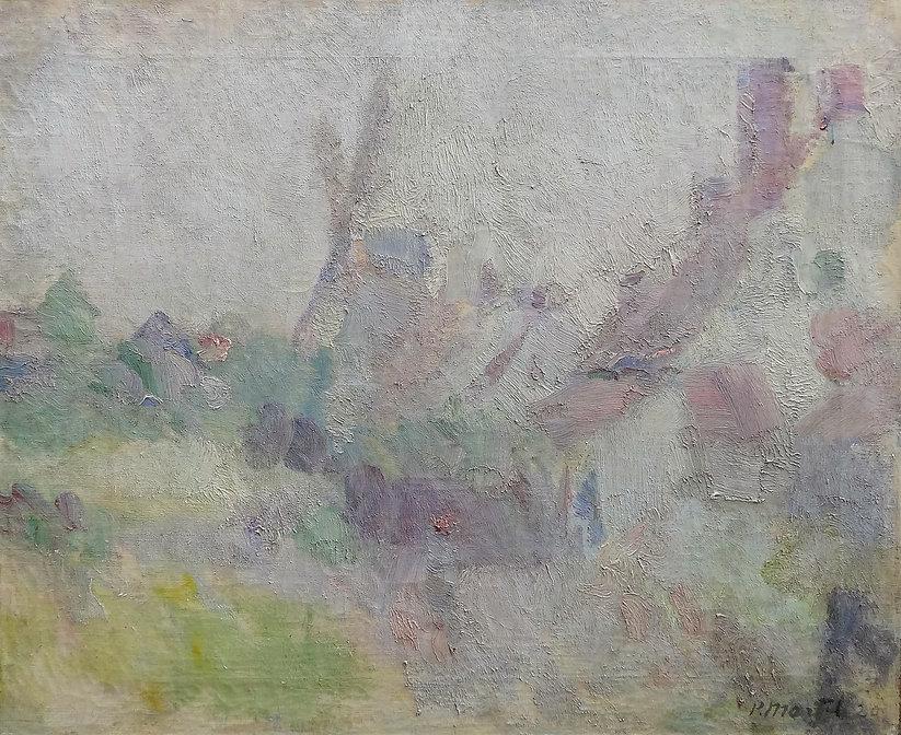 Martel Paul (1879-1944) - Huile sur toile datée 1920 – Paysage de Flandres – école belge -