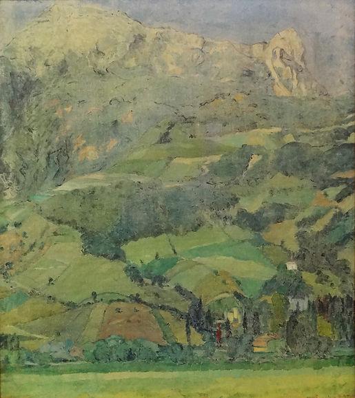 Guilbert Maurice (1876-1938) – Huile sur toile – Paysage - école belge – 68x77cm  .JPG
