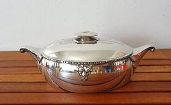Légumier - métal argenté - art déco - orfèvre français Roux Marquiand.JPG