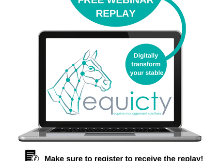 Our first webinar was a success - Digitally transform your stable - sign-up & replay for free