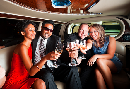 People in a Limo Night on the Town Pic