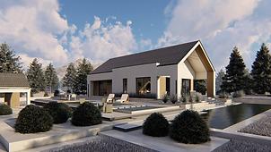 Namus vieno aukšto namo projektas, namas nuo pamatų iki raktų, naujų namų statyba