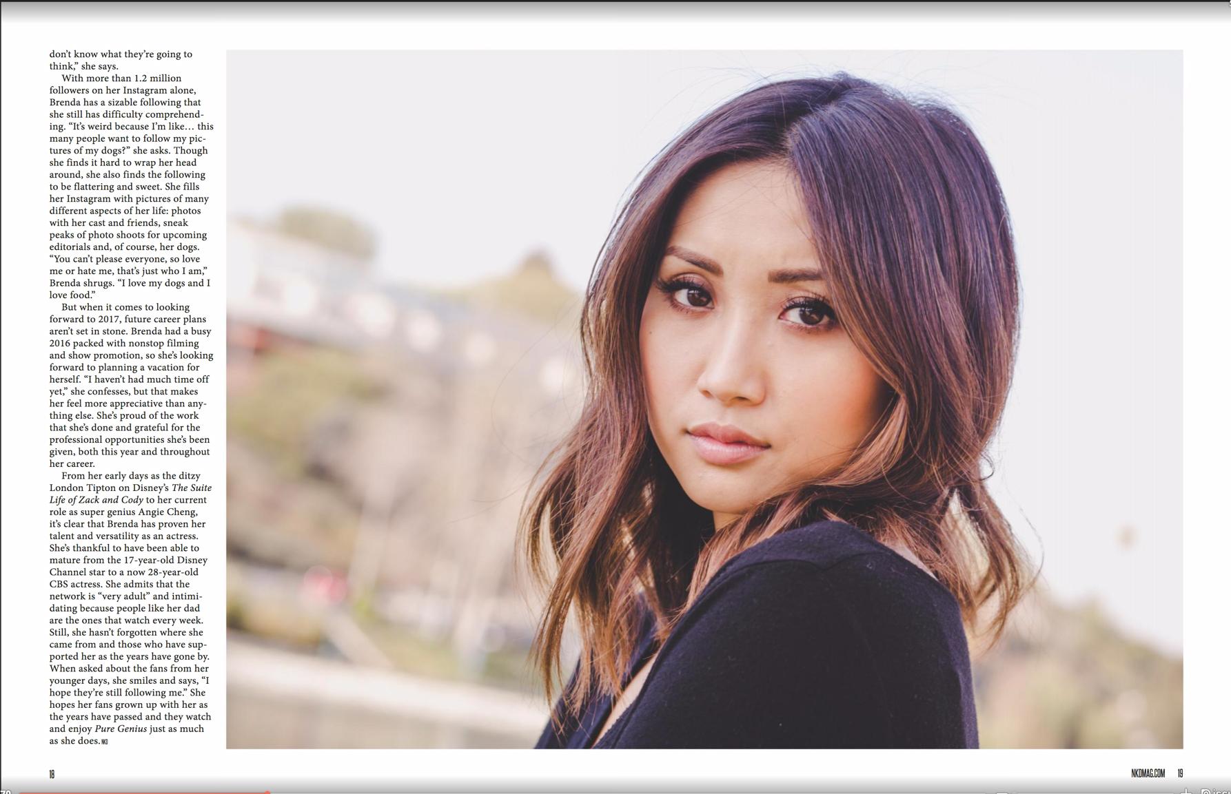 Brenda Song / NKD mag