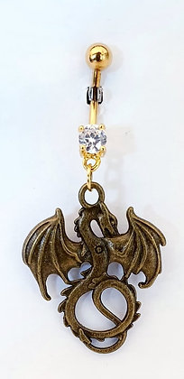 NOMBRIL PENDANT DRAGON GOLD