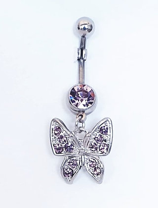 NOMBRIL PAPILLON STRASS