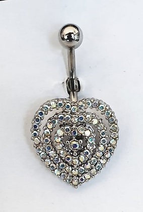 NOMBRIL COEUR STRASS