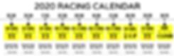 RCC 2020 Racing Calendar