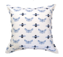 Bee & Moth Blue 60x60cm